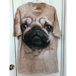 The Mountain PUG Dog Face Tee T-shirt XL